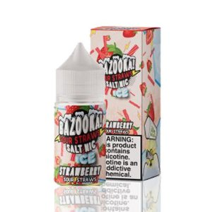 Líquido Bazooka! Salt - Sour Straws - Strawberry ice