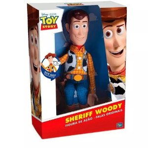Boneco Toy Story Woody Com Som 15 Frases 40 Cm - Toyng - 35727