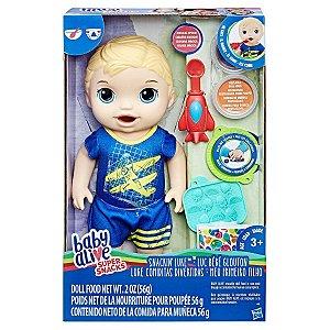 BABY ALIVE - MEU PRIMEIRO FILHO LOIRO - SUPER SNACKS - C1883