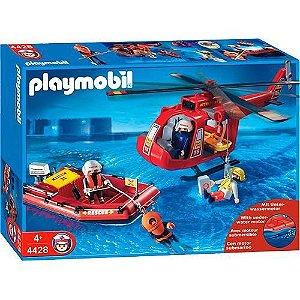PLAYMOBIL - BOTE E HELICOPTERO DE RESGATE - 1194