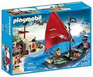 PLAYMOBIL - NAVIO PIRATA COM SOLDADOS - 1042