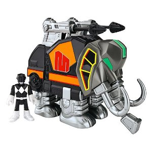 IMAGINEXT - POWER RANGERS - RANGER PRETO E MASTODONTE - CHJ01 - FISHER PRICE
