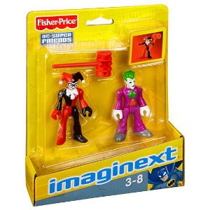 IMAGINEXT - DC COMICS - CORINGA E ARLEQUINA - M5645 - FISHER PRICE
