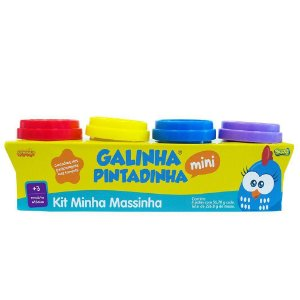 KIT MINHA MASSINA GALINHA PINTADINHA 4 POTES - KI MASSA - SUNNY