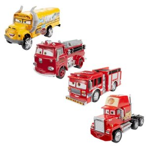 Kit de Carrinho - Disney Carros 3 - Mack, Red, Tiny Lugsworth e Miss Fritter - Mattel