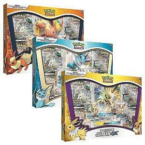 Pokémon TCG Flareon, Jolteon e Vaporeon GX - COPAG