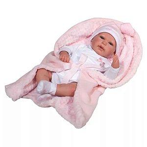 Boneca Bebê - 40 Cm - Reborn - Olhos Abertos