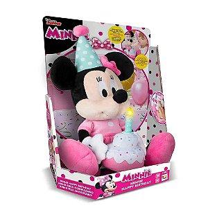 Pelúcia Minnie Feliz Aniversário - Disney - Multikids