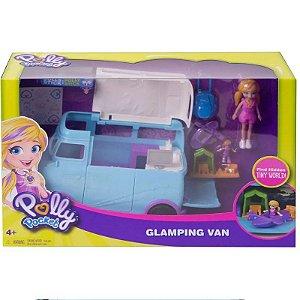 FTP74 Veículo e Boneca - Polly Pocket - Polly e Veículo de Camping - Mattel