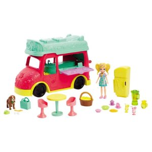 GDM20 Veículo e Boneca - Polly Pocket - Food Truck Refresco - Mattel