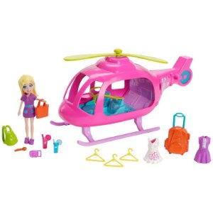 CJL60 Boneca Polly Pocket - Helicóptero da Polly - Mattel