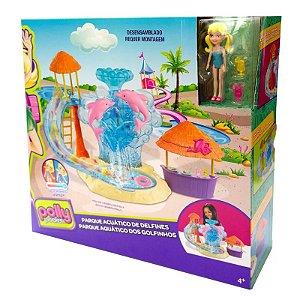 FRY91 Playset e Mini Boneca - Polly Pocket - Parque Aquático e Golfinhos - Mattel