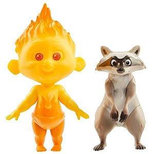 Figuras Articuladas Zezé e Guaxinim - Os Incríveis 2 - Disney
