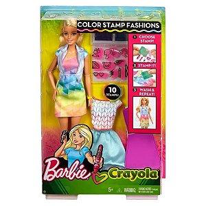 FRP05 Boneca Barbie - Barbie Criações com Carimbos - Mattel