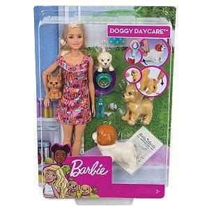Fxh08 Boneca Barbie - Treinadora de Cachorrinhos - Mattel