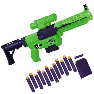 Lançador de Dardos - 12 Dardos - Verde - Unik Toys
