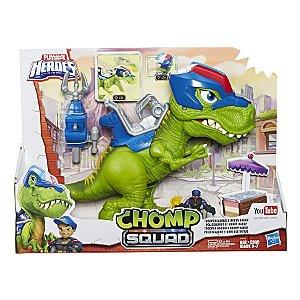 E0830 Figura 24 Cm - Playskool Heroes - Dino Chomp Squad - Policissauro - Hasbro