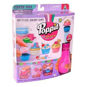 Conjunto Massinha de Modelar - Poppit - Kit Inicial - Mini Cupcakes - DTC