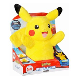 Pokemon Pelúcia Pikachu 30 cm com Luz e Sons - DTC
