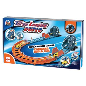 Pista Turbo Looping Duplo - Braskit