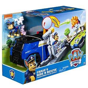 Playset 2 em 1 - Patrulha Canina - Chase Policial - 21Cm - Sunny