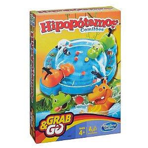 Jogo Hipopótamo Comilão - Grab & Go - Hasbro