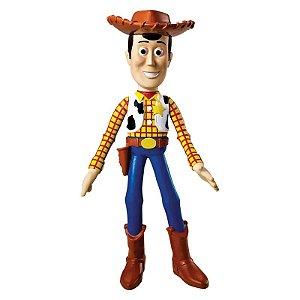 Boneco de Vinil - 18 Cm - Disney - Pixar - Toy Story - Woody - Líder