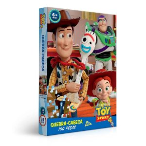 Quebra-Cabeça Toy Story 4 com 100 Peças - Toyster