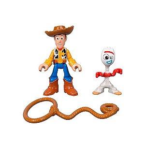 Toy Story 4 Imaginext Woody e Forky - Mattel