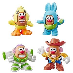 E3065 Pack com 4 Mini Mr. Potato Head - Toy Story 4 - Hasbro
