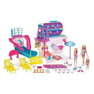 FHW46 Playset e Boneca Barbie - Viaje no Navio Cruzeiro - Mattel