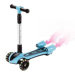 Patinete Turbo DM Radical Bluetooth Luzes e Fumaça - Azul