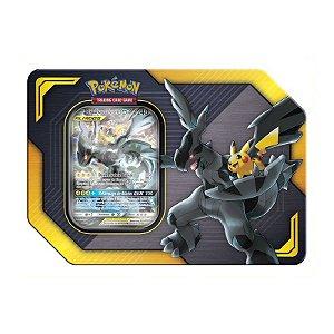 Lata Pokémon TCG - Pokemon GX - Zekrom e Pikachu - Copag