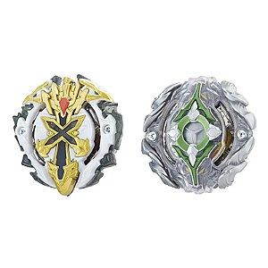 Pião Beyblade - Beyblade Burst Dual Pack - Xcalius e Yegdrionn - Hasbro
