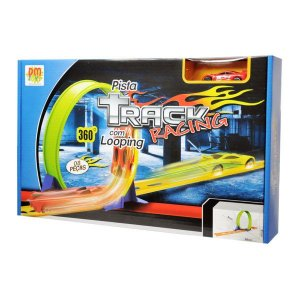 Dmt5074 - Pista Track Racing com Looping - Dm Toys