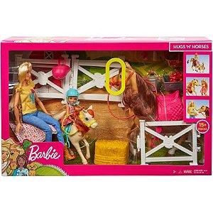 Boneca e Acessórios Barbie Chelsea com Cavalo e Ponei