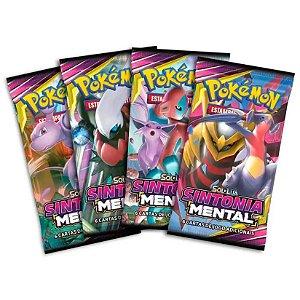 4 Booster Pokémon Sintonia Mental - Copag