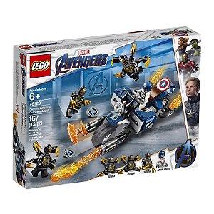 Lego - Marvel - Avengers Vingadores - 76123 - Capitão América Contra Alienigenas