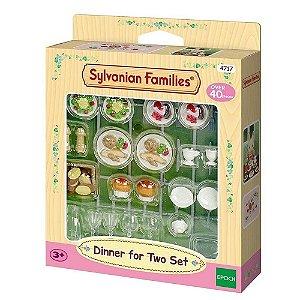 Conjunto Jantar Para Dois Sylvanian Families - Epoch