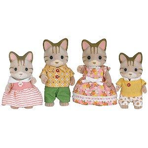 Família dos Gatos Listrados Sylvanian Families - Epoch