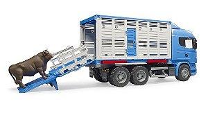 Caminhão Transportador De Animais Scania R-series - Bruder