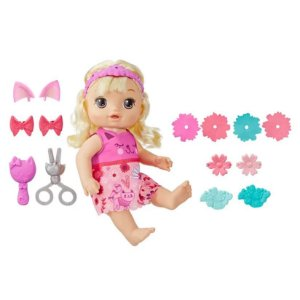 Boneca Baby Alive Penteados Diferentes Loira - Hasbro