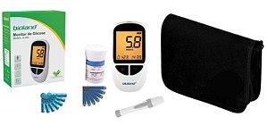 Kit Completo Medidor De Glicose G-500 Bioland 25 Fitas