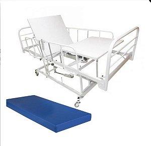 Cama Hospitalar 3 Movimentos Motorizada com Elevação do Leito