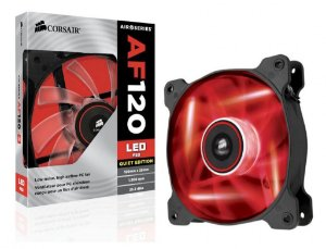 CASE FAN - CORSAIR AF 120 - LED VERMELHO - 120mm - CO-9050015-RLED