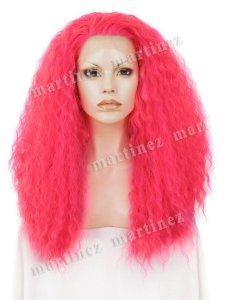 Peruca Sintética Lace Front Premium Extra Volume Pink