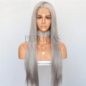 Lace Front Melissa Cinza Liso