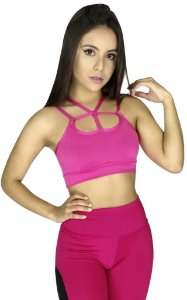 Top Tiras Strappy Fitness Rosa
