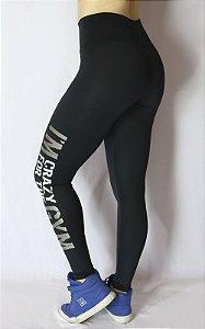 Calça Legging Suplex Fit com Silk