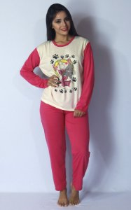 Pijama Longo Fechado Feminino Manga Comprida